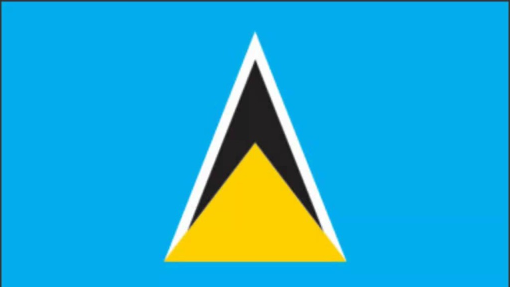 St Lucia national flag