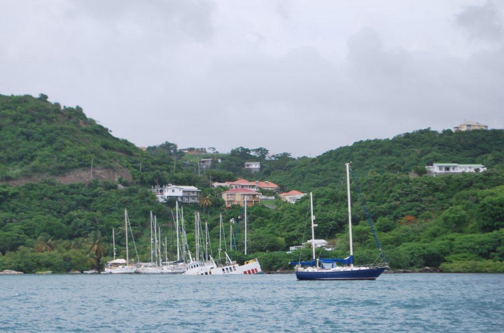 Whisper Cove Marina (sheltered by sunken ferry)
